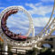 Australia, Queensland, Gold Coast, Sea World, corkscrew rollercoaster